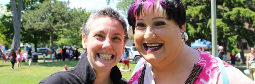 Photo of Tyffanie Morgan, Miss Gay Kingston and friend