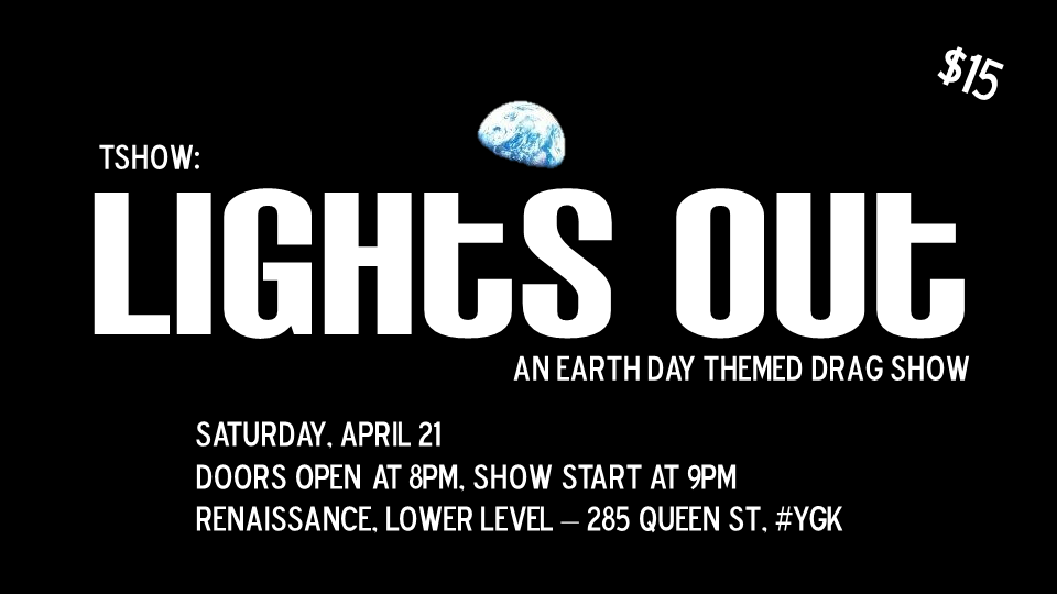 Lights Out drag show poster